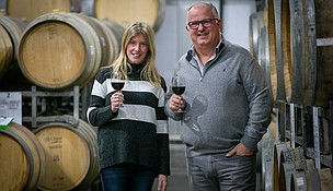 Attilio Pagli and Ana Musso-Winemakers Photo Courtesy Forever Blossom Special Collections