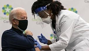 President Biden getting a  COVID vaccine shot