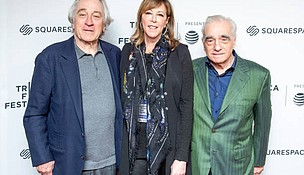 Tribeca Film Festival Founders Robert Di Niro and Jane Rosenthal with Martin Scorsese at last year's Tribeca Talks-Directors Series Photo: Getty Images
