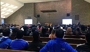 More than 180 high school students and over 60 Lewis University students attended the 2014 Si Se Puede Conference at Lewis University in Romeoville.