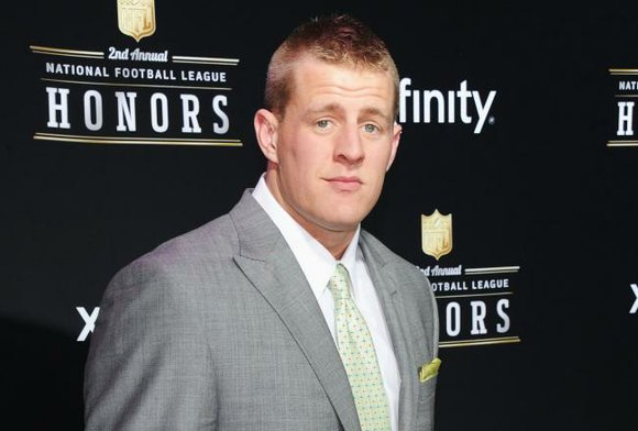 Houston Texans DE J.J. Watt was named the Associated Press Defensive Player of the Year at the second-annual NFL Honors ...