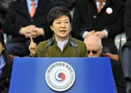 Park Geun-hye made history Monday by becoming South Korea's first female president, pledging to secure South Korea against the threat ...