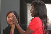 LAMIK Founder Kim Roxie as she conducts Celebrity Brow demonstration on Guest  Photo Courtesy of Point and Click Photography