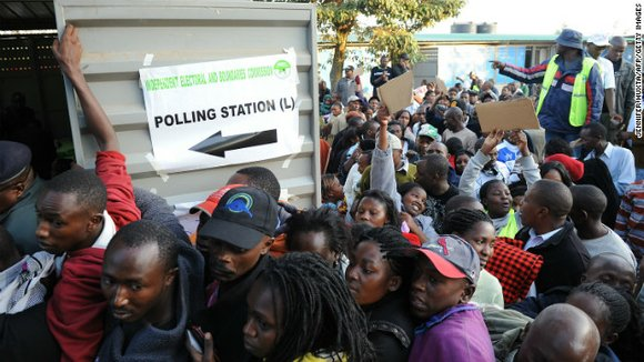 Vote counting began here Monday after largely peaceful elections in which millions of voters stood in line to choose their ...