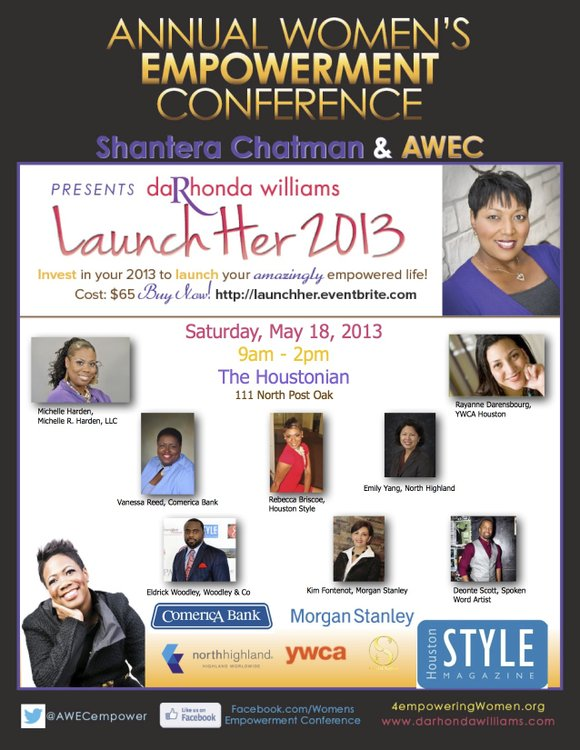 The Annual Women's Empowerment Conference (AWEC) will host Launch Her 2013 on Saturday, May 18, 2013 from 9am–2pm at the ...