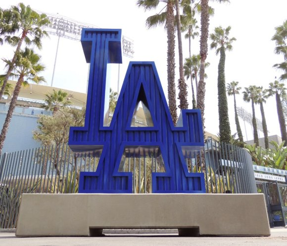 """The Los Angeles Dodgers are encouraging fans to """"Let the Smoke Clear""""..."""