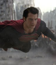 """Henry Cavil stars as Superman in Warner Bros. Pictures' and Legendary Pictures' action adventure """"Man of Steel."""""""