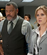 """Laurence Fishburne and Amy Adams star in Warner Bros. Pictures' and Legendary Pictures' action adventure """"Man of Steel."""""""