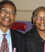 Past Grand Matron Barbara Bennett with husband Fred, Past Grand Patron of Prince Hall Masons enjoying an evening away from their club, The Jet Lounge in East Baltimore.
