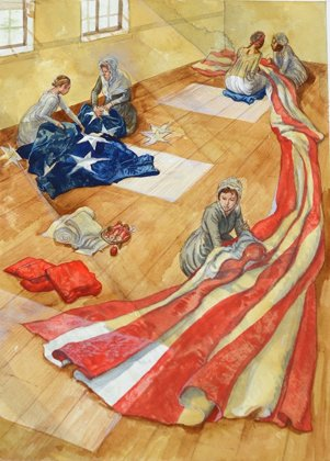 Beginning July 4, 2013, The Maryland Historical Society (MdHS) will recreate the 30 x 42 foot Star-Spangled Banner flag that ...