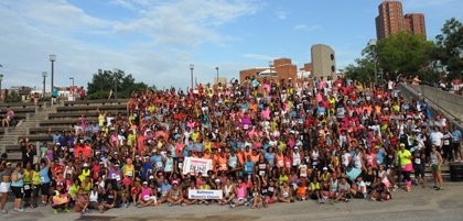 On Sunday, June 23, 2013 more than 400 women participated in a 5K Women's Run in Baltimore to encourage and celebrate fitness among black females.