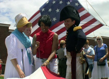 At a celebration at Ft. McHenry National Monument and Shrine on July 4, 2013 The Maryland Historical Society (MdHS) began ...