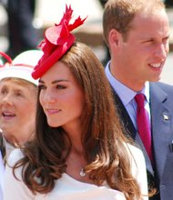 Prince William and his wife, Katherine Middleton during a tour of Canada on July 1, 2011.
