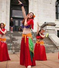 Bellydancers at artscape