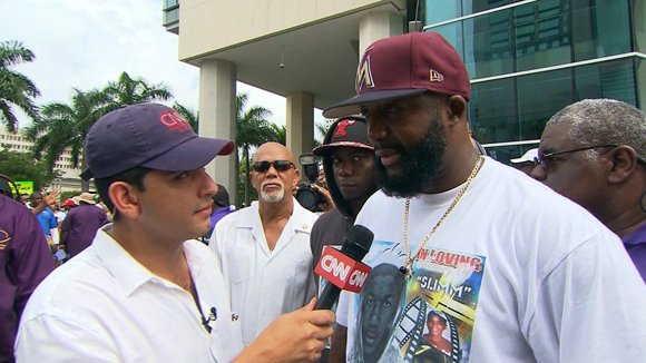 Trayvon's father speaks to CNN at 'Justice for Trayvon' Rally 	
