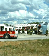 Indiana bus crash  Three people were killed and 19 injured when a bus carrying about 40 passengers to an Indianapolis church overturned Saturday afternoon.