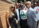 """Beyonce and Sean """"Jay-Z"""" Carter, Sabrina Fulton and the Rev. Al Sharpton"""
