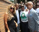 "Beyonce and Sean ""Jay-Z"" Carter, Sabrina Fulton and the Rev. Al Sharpton"