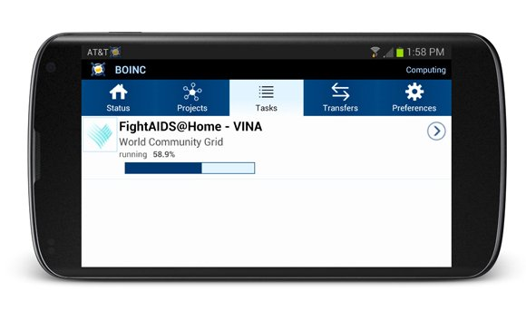 When you're not using your smartphone, scientists can now use it to fight AIDS. A new app for Android lets you donate your smartphone and tablet's unused computing power for scientific research, all while you sleep. It only works when your device is connected to Wi-Fi, is near full-charge and plugged in, so it won't eat up your data plan or drain the battery.