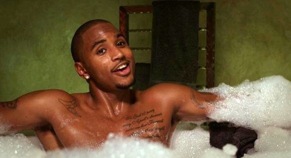"Tremaine ""Trey Songz"" Neverson as ""Damon"" in ""Baggage Claim."""