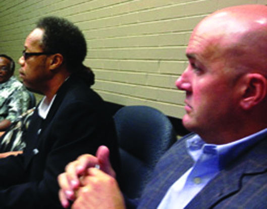 HAJ interim Chief Executive Officer Michael Simelton (left) and HAJ attorney Eric Hanson (right) met individually with board members last week after a special meeting was cancelled.