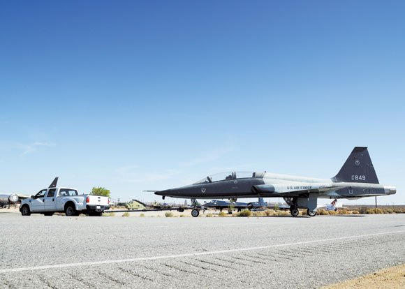The Air Force Flight Test Museum at Edwards Air Force Base, Calif., brought three aircraft—a T-38A, a single-seat F-16XL and ...