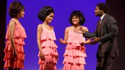Sydney Morton, Valisia LeKae, Ariana DeBose and Brandon Victor Dixon in Motown: The Musical / photo by Joan Marcus