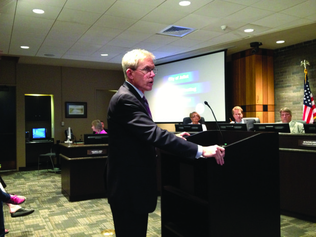 WillCoExpressway: John Greuling, president and CEO of the Will County Center for Economic Development Committee came before the Joliet City Council Monday seeking support for the Illiana Expressway project.