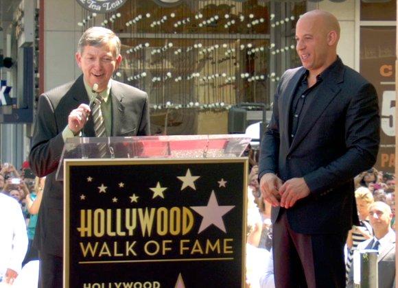 Vin Diesel receives star on Hollywood Walk of Fame.