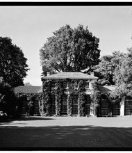 Green House (later called the Orangery) at Wye House, Easton, MD, 1963, Photograph by Historic American Buildings Survey. (Courtesy of the Wye House Collection)