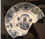 Broken plate artifact