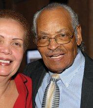 Joy Bramble, publisher, The Baltimore Times and Freddie Howard