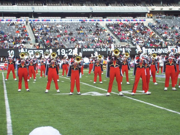 The Benedict College Tigers beat the Virginia State University Trojans 30 to 14 at the 41st Annual New York Urban ...