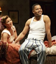 "Vanessa Williams and Cuba Gooding Jr., star alongside Cicely Tyson in the Broadway stage play ""The Trip to Bountiful"""