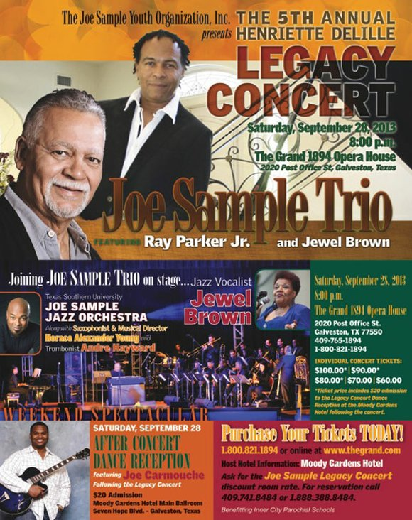 The Joe Sample Youth Organization, Inc. Presents The 5th Annual Henriette Delille Legacy Concert on Saturday, September 28, 2013 at ...