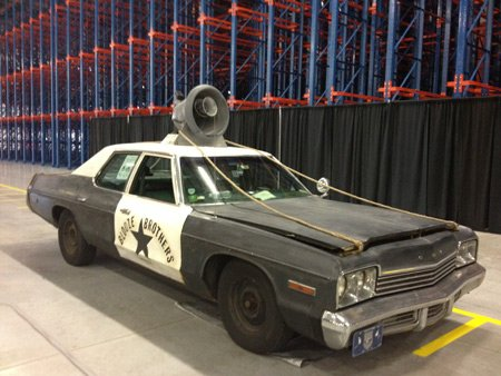"The ""Blooze Brothers"" mobile also was on hand at the grand opening, a tip of the hat to ""Joliet Jake,"" and the Joliet reference in the movie the ""Blues Brothers."""