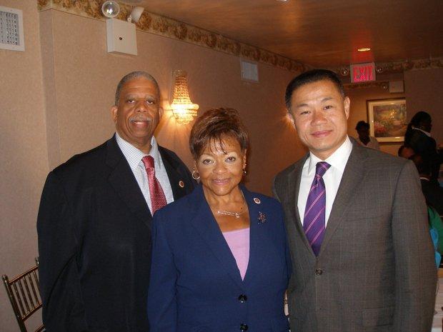 Leroy Comrie, Inez Dickens and John Liu