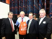 Joliet Mayor Tom Giarrante (from left), Gov. Patrick Quinn, state Rep. Larry Walsh (D-Elwood) and Will County State's Attorney James Glasgow pose for a photo at the grand opening.