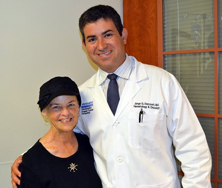 A trip to Houston Methodist Sugar Land Hospital's emergency room for a swollen leg uncovered a major surprise for Pauline ...