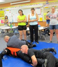 """It is a Saturday in Lake Mary, Florida and Zach Hudson and his partner Mike Friedman, Defensive Tactics Solutions, are conducting a free """"Active Shooter Self Defense Workshop"""" for teachers and school staff."""