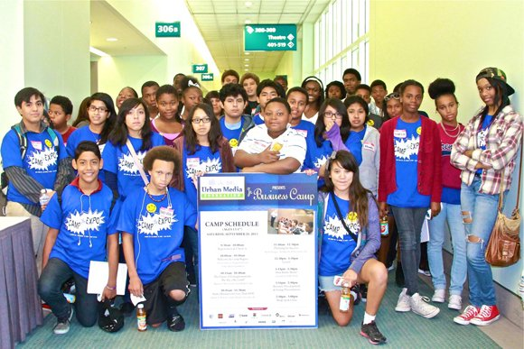 Dozens of youth attend the Urban Media Foundation Jr. Business Camp.