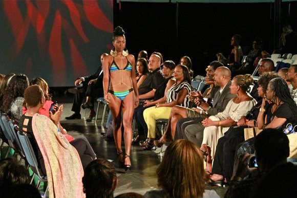 Teeny weenie bikinis were among the swim suits that captivated the audience at the WCE fashion show.