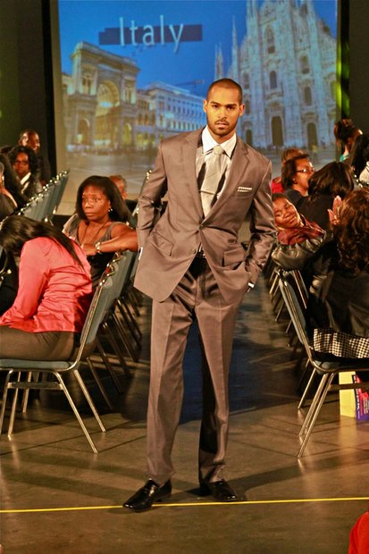 "West Coast Expo Lights, Camera, Runway! fashion show model ""Young and the Restless"" actor Lamon Archey."