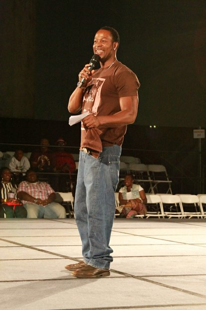 Actor Darrin Henson as he hosts the Back 2 School: Back 2 Business step show.