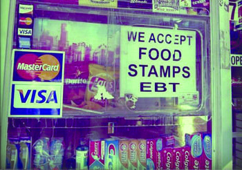 Food stamps are accepted by some corner stores.