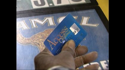 Electronic food stamps card.