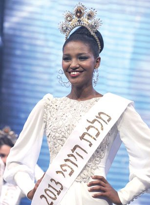 Miss Israel 2013, Yityish (Titi) Aynaw, visited Los Angeles' Little Ethiopia Saturday as part of an effort by the African ...