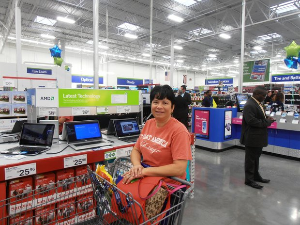 Catherine Kasperski, of Romeoville, was excited to see the new Sam's Club open in her community.