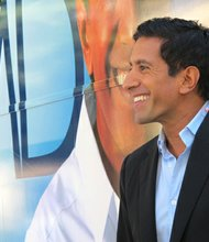 CNN's Dr. Sanjay Gupta kicks off his CNN Express bus tour focusing on the Affordable Care Act, also known as Obamacare. The tour kicked off in Greenville, South Carolina on October 3, 2013.