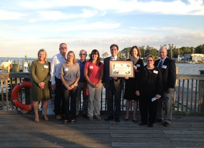 Leading a nationwide trend in community concern for habitat loss, Annapolis Mayor Joshua J. Cohen accepted, on behalf of the ...